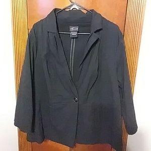 💗Gorgeous strtech black stripe blazer size 22-24.